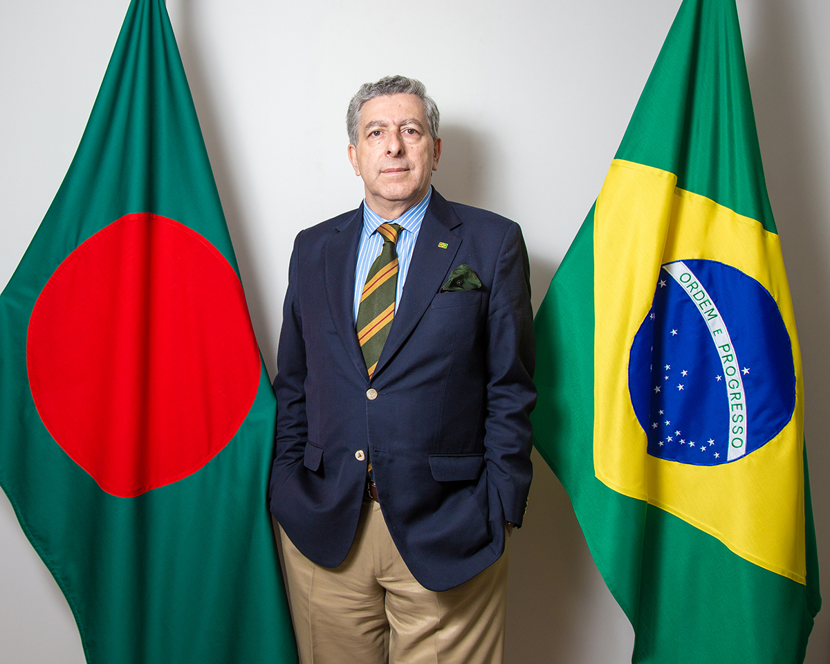 Jovial, perky, and upbeat, the Brazilian ambassador to Bangladesh João Tabajara de Oliveira Júnior is a personification of the spirit of samba